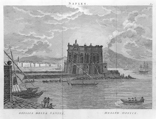 The Health Office at Naples, Italy, John Howard, 1789.