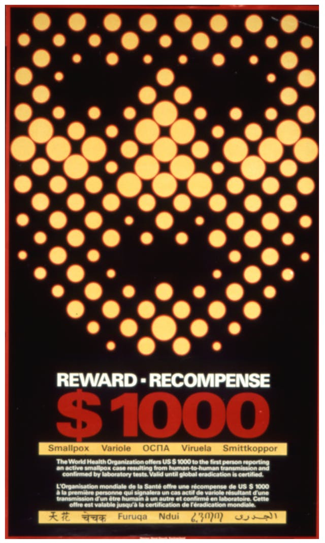 Poster offering a reward of 1000 dollars to