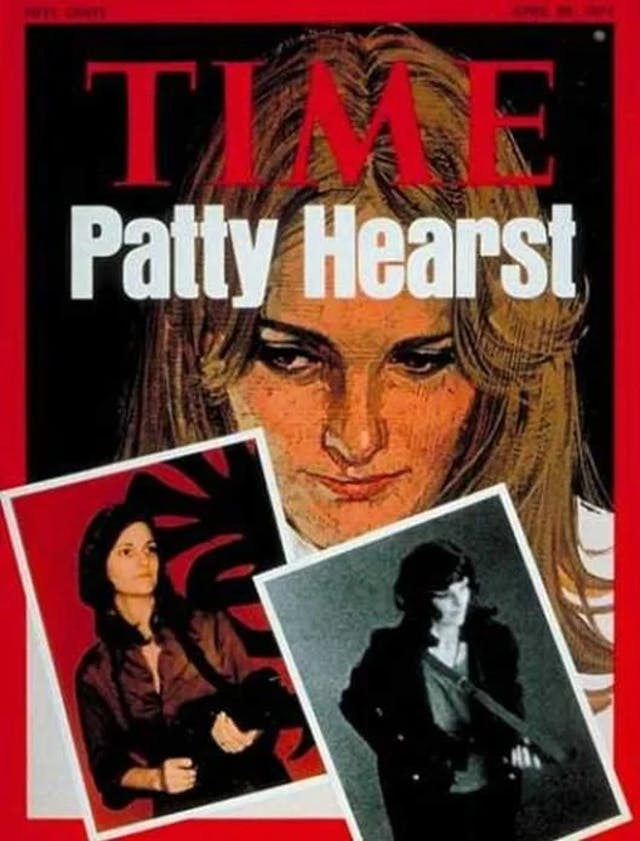A magazine cover featuring three pictures of a young woman