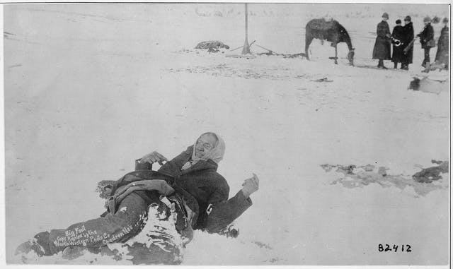 Big Foot, leader of the Sioux, captured at the Battle of Wounded Knee