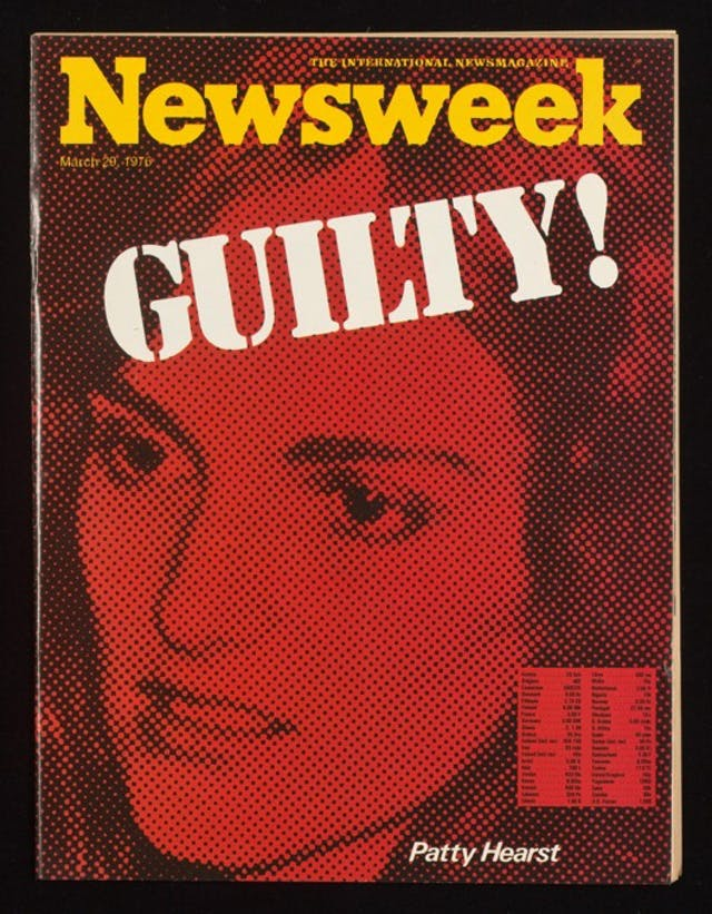 Cover of Newsweek magazine featuring Patty Hearst