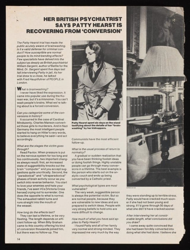 A magazine article about Patty Hearst.