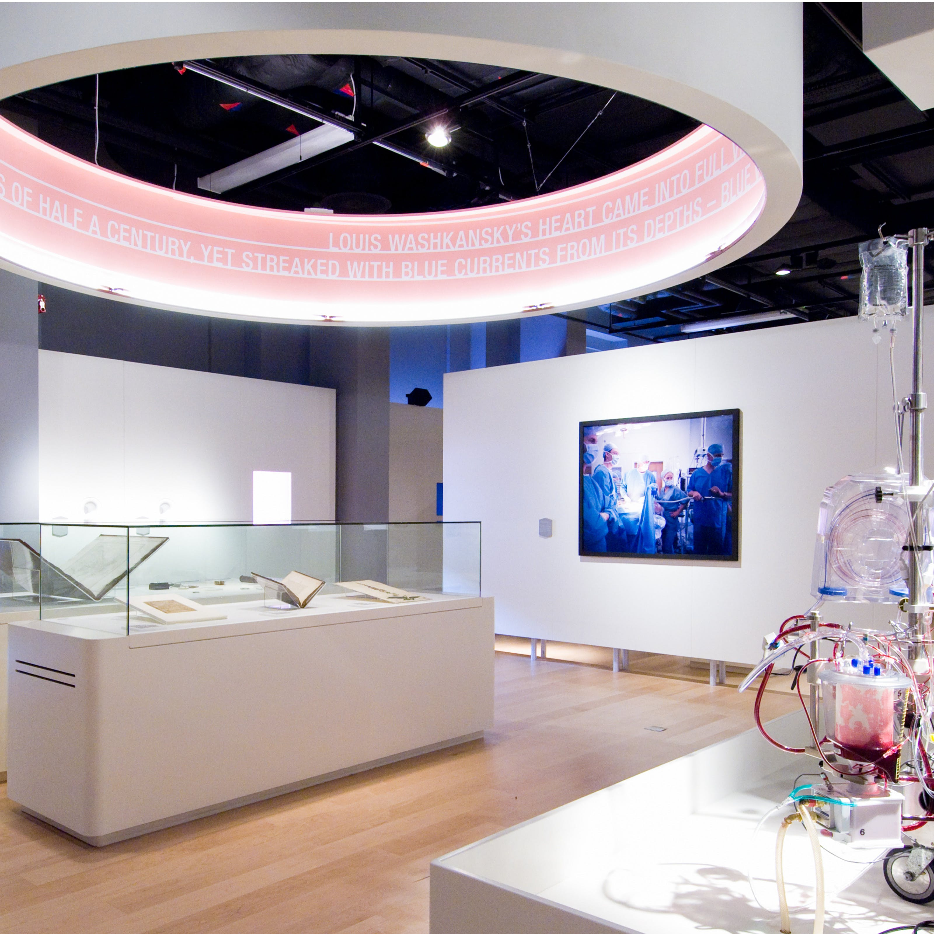Photograph of The Heart exhibition gallery at Wellcome Collection.