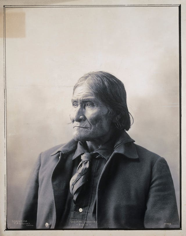Portrait of Geronimo, the Apache chief, 1898
