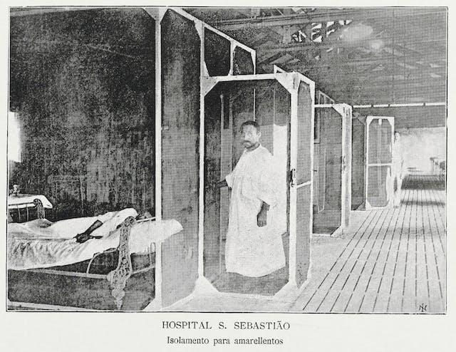 A yellow fever isolation ward in Rio de Janeiro, Brazil