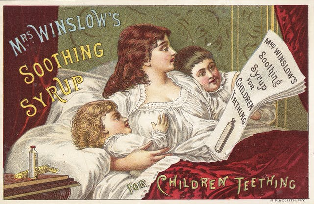 Advert for Mrs Winslow