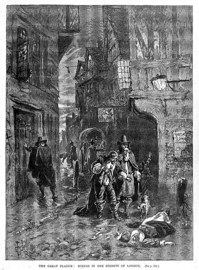 A London street during the 1665 plague