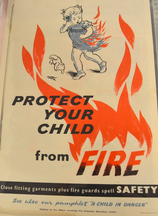 Protect Your Child From Fire poster