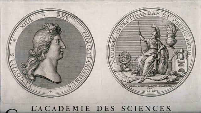 The Académie des Sciences, Paris: two medals