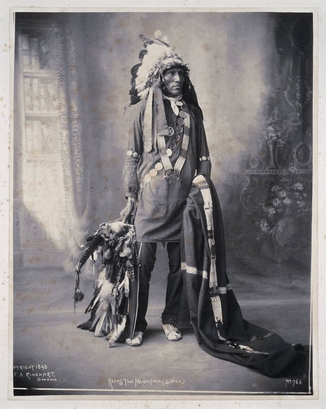 Portrait of Keeps the Mountain, a Sioux Indian
