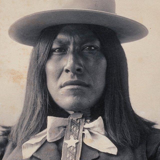 Portrait of Assuz, a San Carlos Apache Indian, c 1898