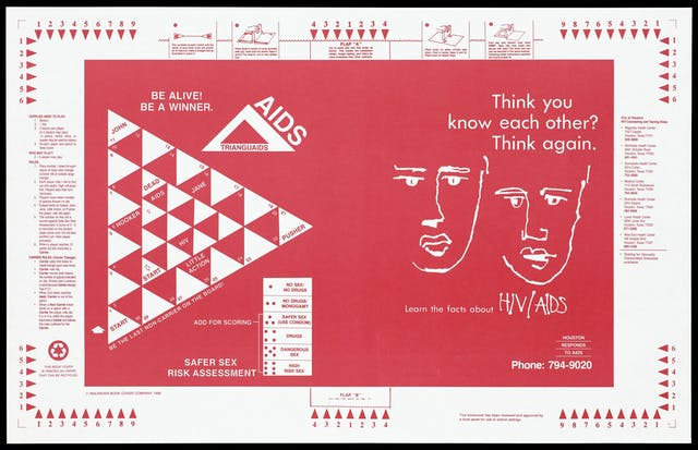 A book cover in red featuring a triangle game board divided into smaller triangle spaces for players