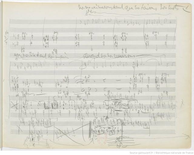 Lili Boulanger's sketches for the song cycle Clairières dans le ciel (1914-1916).