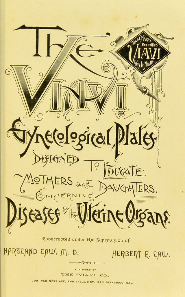 Title page of The Viavi Gynecological Plates
