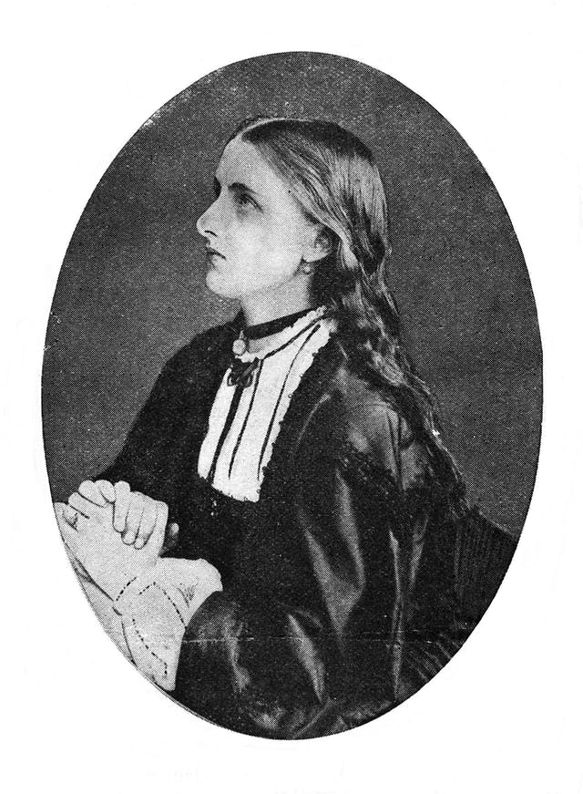 Black and white photographic portrait of a young woman