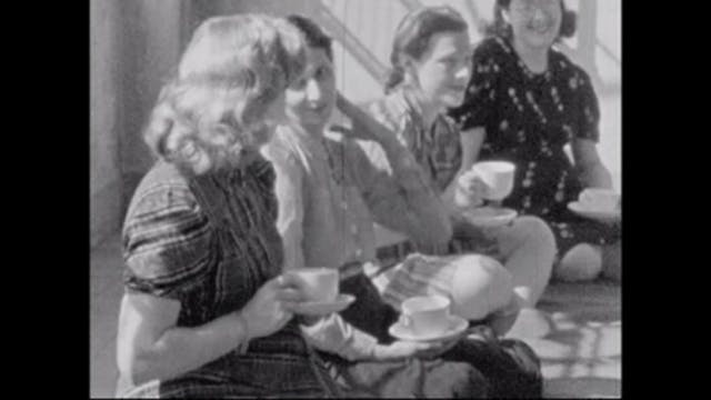Image of women drinking tea and talking.