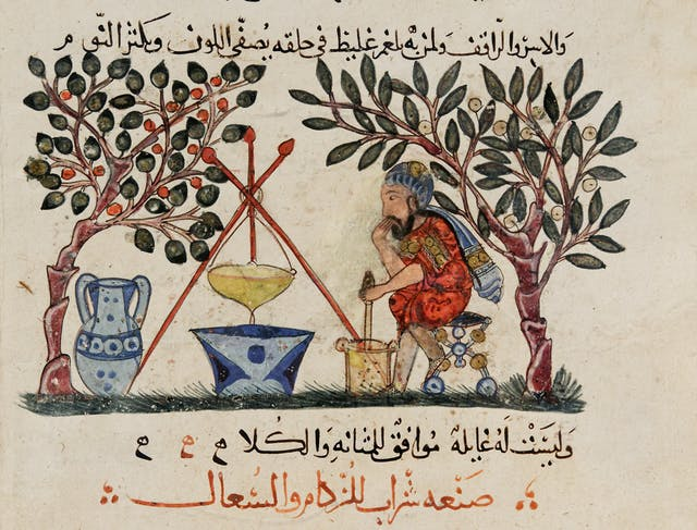 Physician preparing an elixir