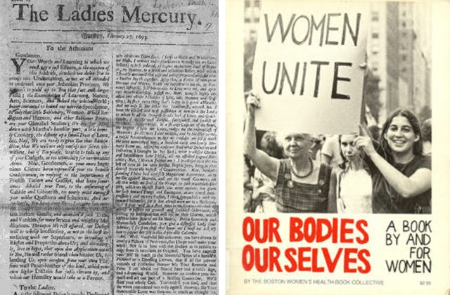 Two images side-by-side. On the left is the cover of The Ladies