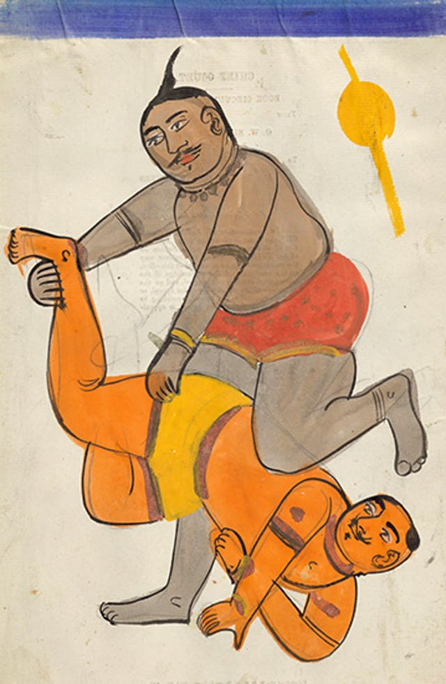 A pair of traditional Indian wrestlers