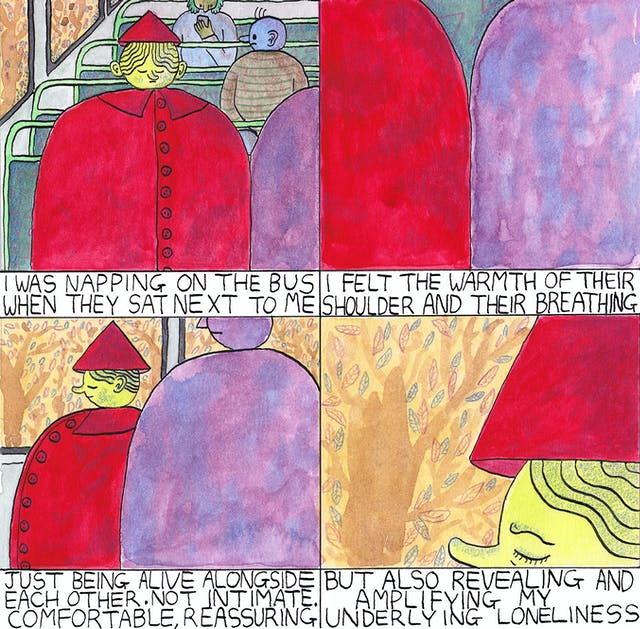 Loneliness comic by Rob Bidder