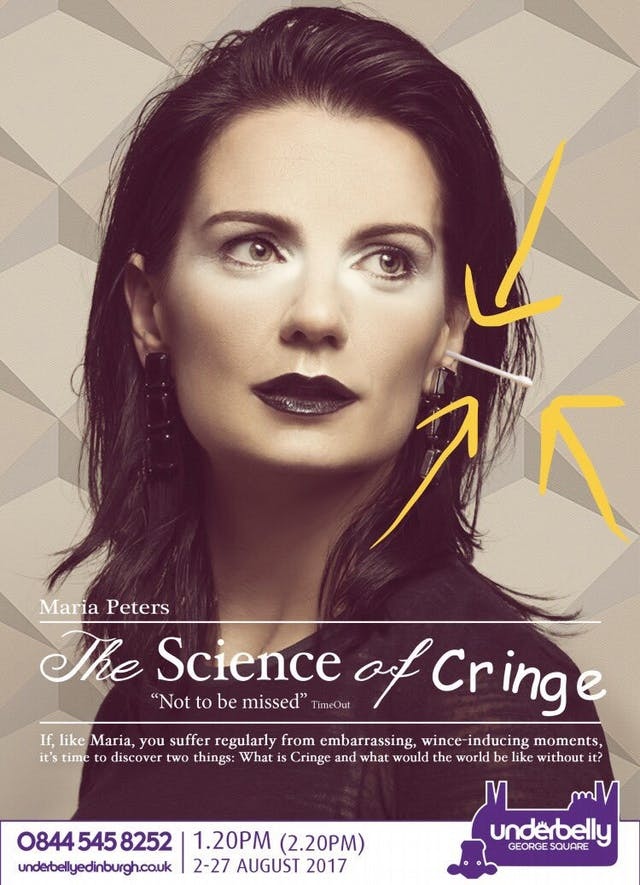 Poster for 'The Science of Cringe' by Maria Peters.