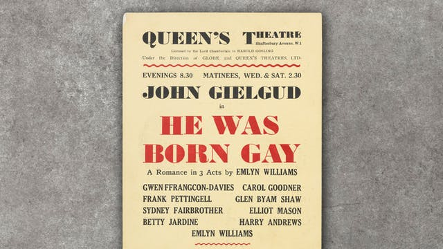 Photograph of a poster advertising the play