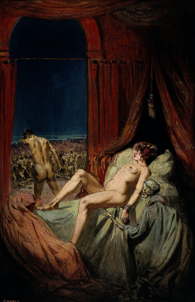 Early 20th-century painting depicting syphilis, Richard Tennant Cooper.