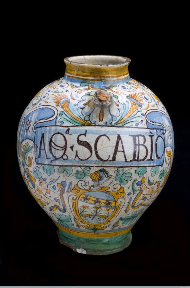 Display jar for scabious water