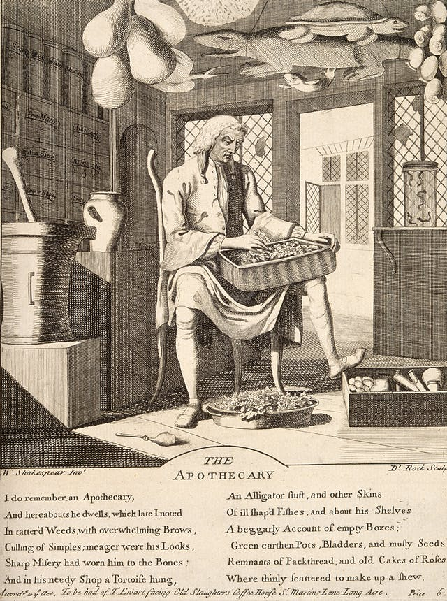 The apothecary from William Shakespeare