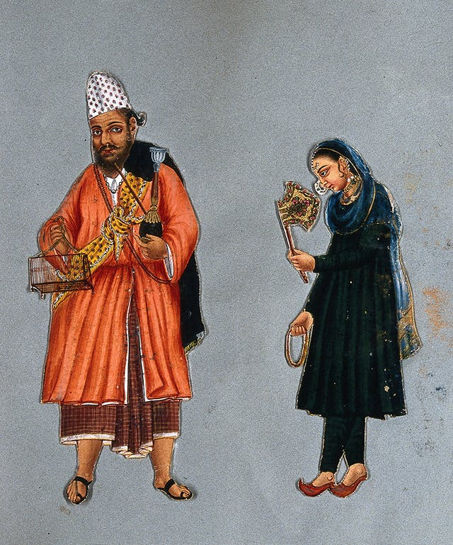 Fakir and his wife from South India, 1815?