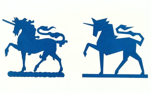 Wellcome Foundation unicorn logos