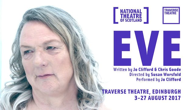 Poster for 'Eve', a play by Jo Clifford and Chris Goode.