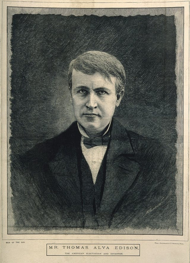 Image of detailed wood engraving of a man
