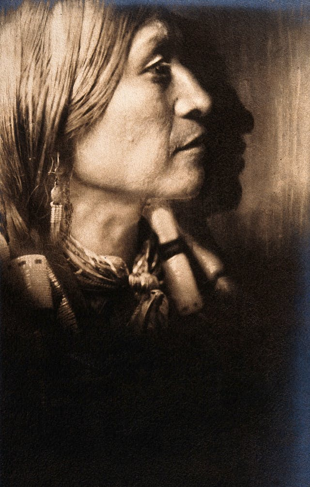 Jicarilla Indian Chief, in ceremonial dress