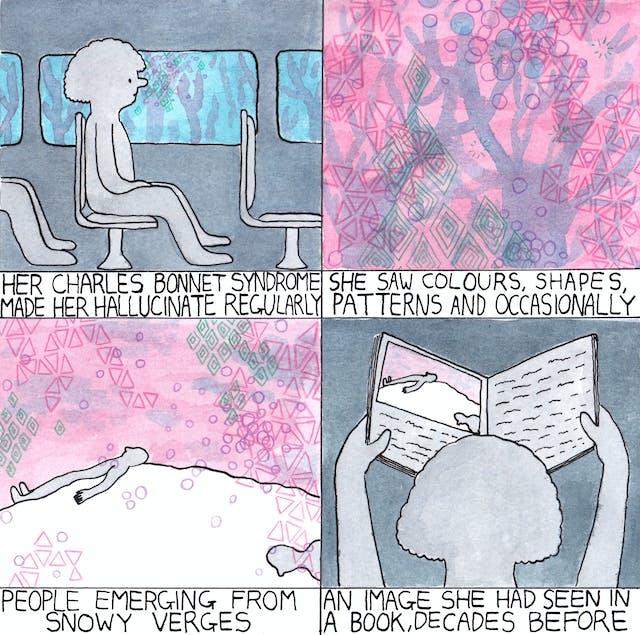 Hallucination comic by Rob Bidder