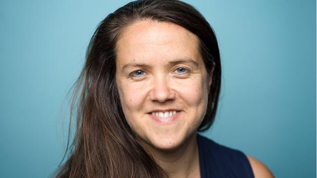 Close-up photographic portrait of Grace Gelder