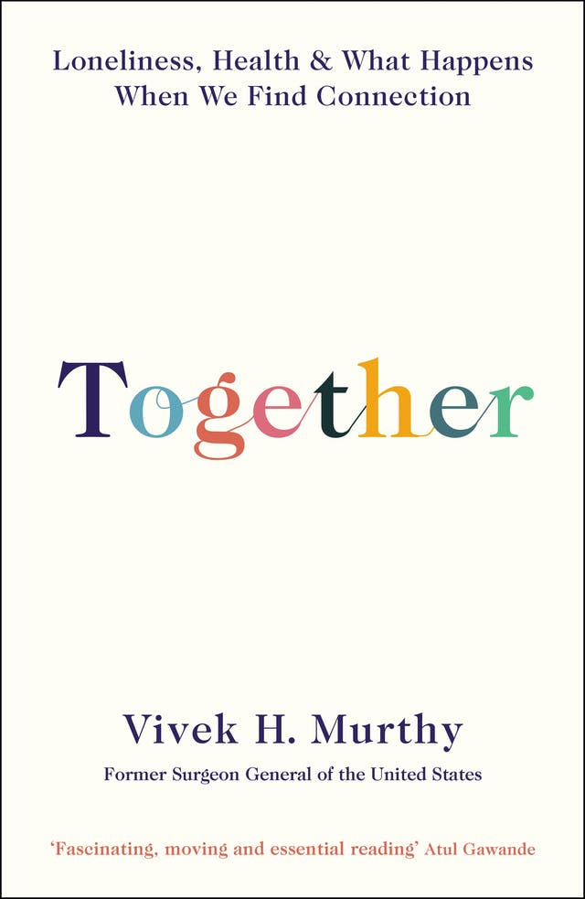 Book cover featuring the word 'Together', multicoloured and in joined-up text