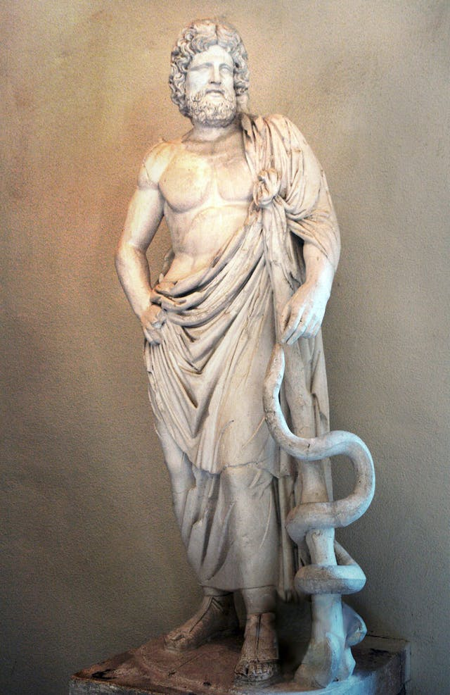 Statue of Asclepius, Greek god of medicine
