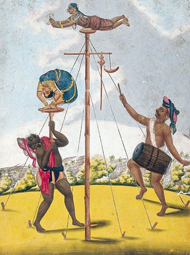Indian acrobats, c. 1815