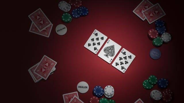 Photograph of a game of texas hold