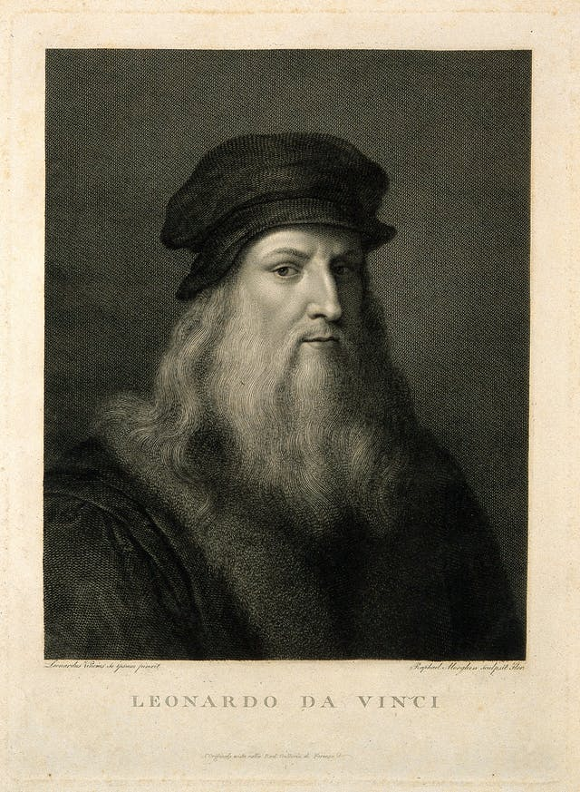 Engraving of Leonardo da Vinci