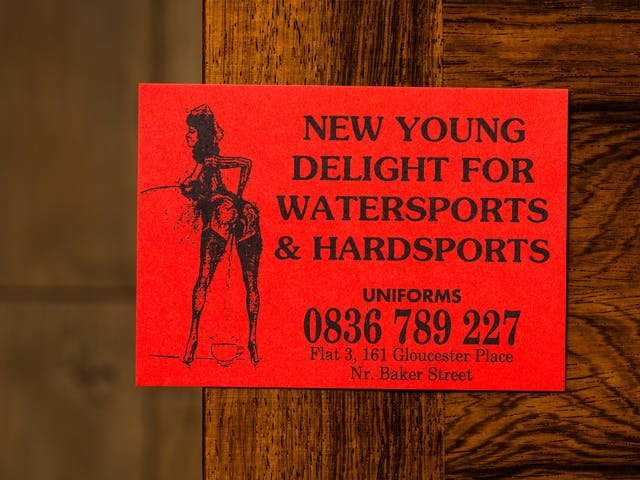 Photograph of one of the cards from the sex worker card collection at Wellcome Collection.