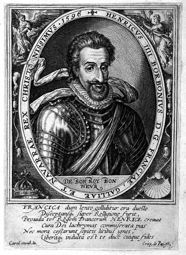 Portrait of King Henry IV of France