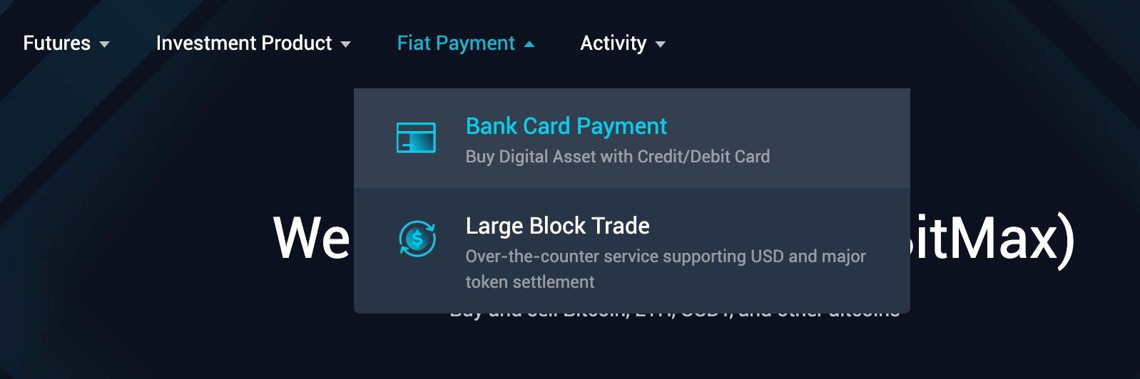 Buy digital assets with credit/debit card