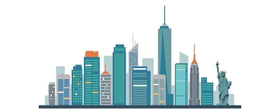 Illustration of New York City skyline