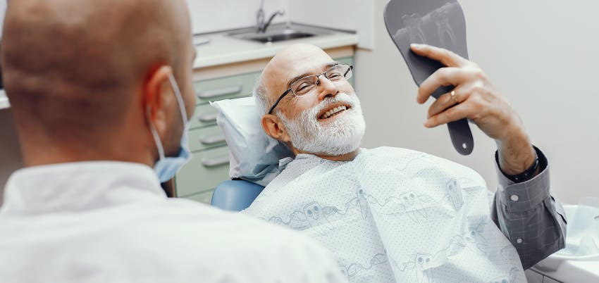 Which is the process for the placement of a dental implant?