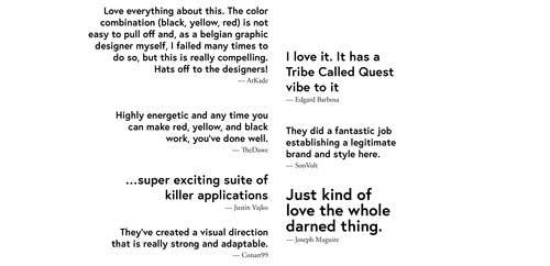 Reviews on the new identity. www.underconsideration.com/brandnew