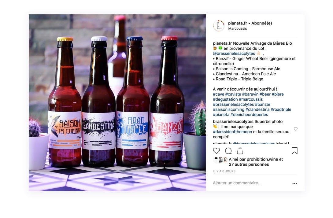 Présentation d'un nouveau produit de votre boutique grâce à Instagram