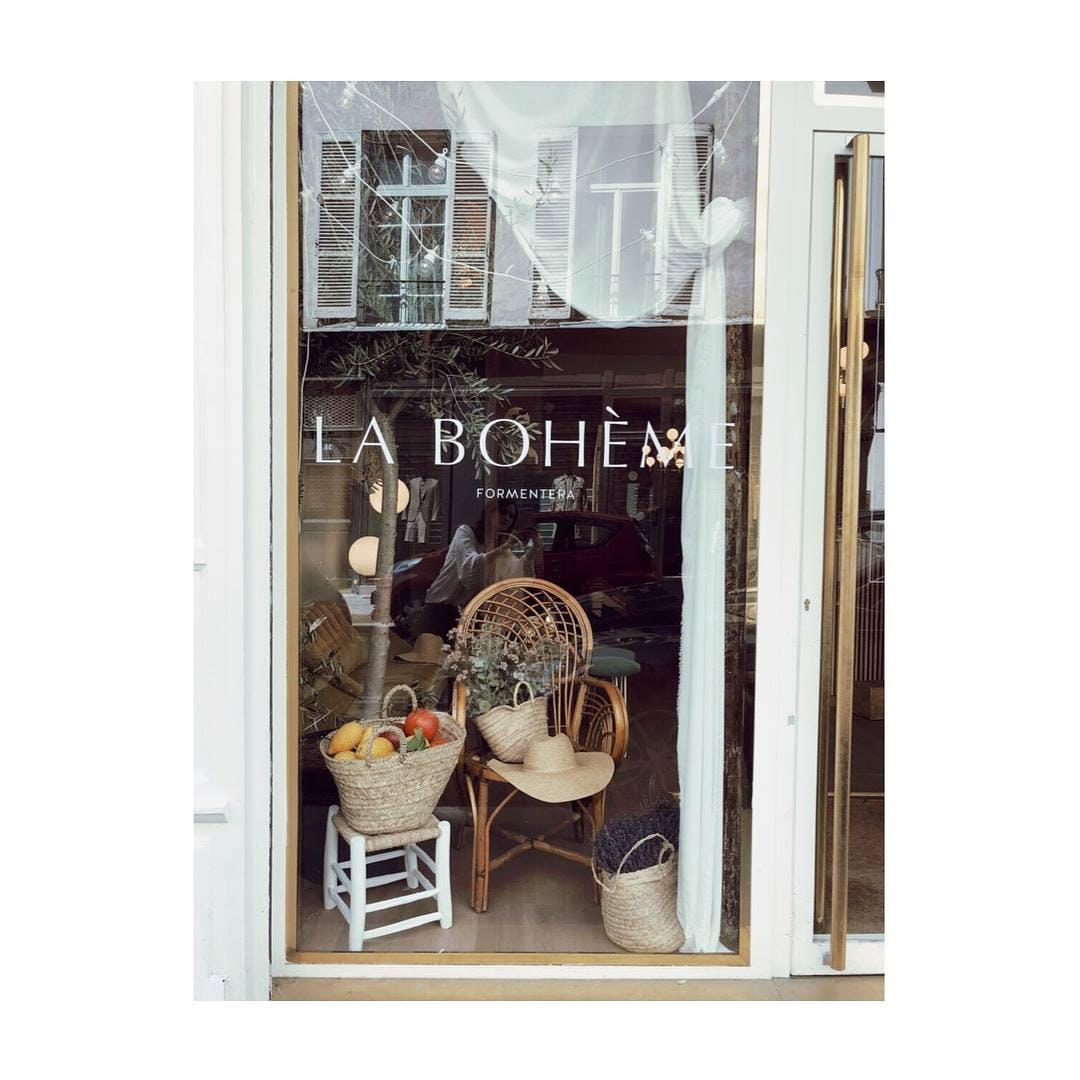 Vitrine de la boutique La Bohème