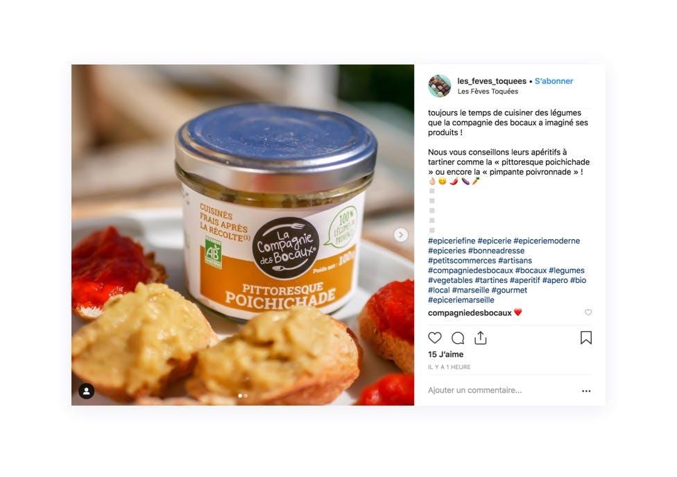 Mise en avant d'un produit coup de coeur grâce à Instagram